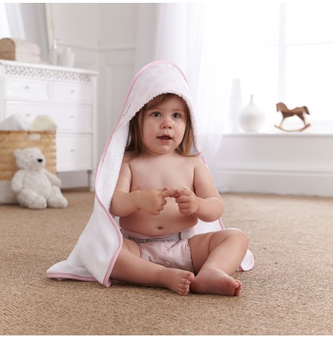 Clair De Lune Luxury Hooded Towel - Speckles Pink